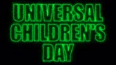 egyetemes : Universal children day text, 3d rendering background, computer generating, can be used for holidays festive design
