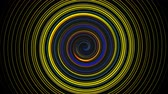 эллипс : Abstract spiral rotating and twisting lines, computer generated background, 3D rendering background Стоковые видеозаписи