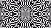 irradiar : Abstract symmetry black and white kaleidoscope, 3d rendering backdrop, computer generating