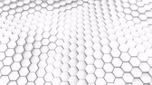 izometrický : Many abstract geometric hexagons as wave, optical Illusion, computer generated 3D rendering backdrop