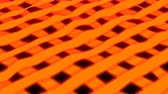 gerar : Orange stripes - 3d rendering close up view threads of cloth, computer generating background