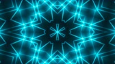 pin : Abstract symmetry kaleidoscope - fractal lights, 3d rendering backdrop, computer generating background Stock Footage