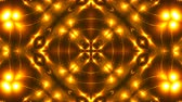 irradiar : Beautiful abstract kaleidoscope - fractal golden light, 3d rendering backdrop, computer generating background Vídeos