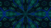 irradiar : Beautiful abstract symmetry kaleidoscope with shiny neon lines, 3d rendering backdrop, computer generating background Vídeos