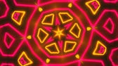 излучать : Beautiful abstract symmetry kaleidoscope with shiny neon lines, 3d rendering backdrop, computer generating background Стоковые видеозаписи