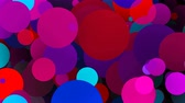pino : Bright colorful round particles, computer generated abstract background, 3D rendering background