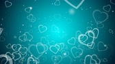 conceito : Abstract background with many hearts, 3d rendering computer generated backdrop for Valentine day Stock Footage