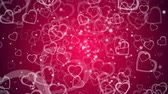 pin : Abstract background with many hearts, 3d rendering computer generated backdrop for Valentine day Stock Footage