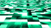 技術 : Abstract square technology background with bright flare, 3d rendering backdrop, computer generated digital art