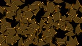 lentejoula : Many golden plates in space, computer generated abstract background, 3D rendering Vídeos