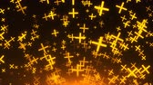 rood : Many gold crosses are in space, 3d rendering background, golden explosion of particles, computer generated backdrop