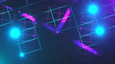 portail : Flying through the data center, effect of neon and illumination, 3d rendering computer generated background Vidéos Libres De Droits