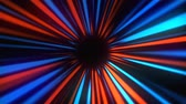 portail : Abstract mysterious rays tunnel, moving in space and time, distortion of space, 3d rendering dynamic background