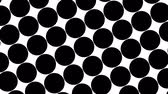 水玉模様 : Big black polka dots - simple retro pattern for creative, 3d render, stylish black polka dot on white background 動画素材