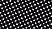 maj : Big black polka dots - simple retro pattern for creative, 3d render, stylish black polka dot on white background Wideo