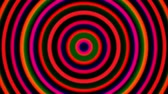 hipnoza : 3d bright hypnotic spirals, swirling radial vortex background, computer generated art creative Wideo