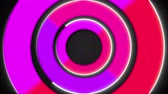 3d colorful circles, stroke shapes, 3d rendering computer generated background 動画素材