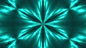 Abstract symmetry kaleidoscope - fractal lights, 3d rendering backdrop, computer generating background Archivo de Video