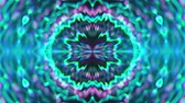 Abstract symmetry kaleidoscope like Mandala ornament, 3d rendering backdrop, computer generating background Stok Video