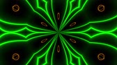 bloemstuk : Beautiful abstract symmetry kaleidoscope with shiny neon lines, 3d rendering backdrop, computer generating background Stockvideo