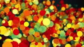 переполнение : Abstract backdrop with colorful transparent circles, spheres and particles. Computer generated 3d rendering