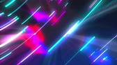 портал : Neon composition with bright shapes like neon tunnel is in the dark space, 3d rendering computer generated background
