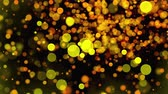 переполнение : Christmas background with glittering gold circles bokeh, computer generated. 3d rendering