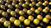 izometrik : Computer generated smooth black and gold spheres. 3d rendering of geometric background