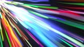 Multicolored bright straight and wavy rays flaring on dark background, computer generated. 3d rendering a spectacular motion graphics
