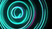Abstract spiral rotating glow lines, computer generated background, 3D rendering background.