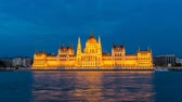 Hungarian Parliament at night, Budapest, Hungary, 4K Time lapse