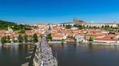 tekne : Charles Bridge, Prague, Czech Republic, 4K Time lapse Stok Video