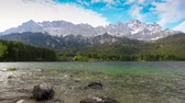 garmisch : Zugspitze mountain and Eibsee lake timelapse, Garmisch Partenkirchen, Germany, HD Time lapse