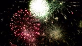holiday background : Fireworks display celebration, Colorful Firework 4K with sound audio