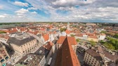 높은 각도 : Munich city skyline timelapse at Marienplatz new and old Town Hall Square, Munich, Germany, 4K Time lapse 무비클립