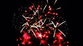 holiday background : Fireworks display celebration, Colorful New Year Firework 4K