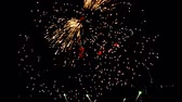 holiday background : Fireworks display celebration, Colorful Firework HD with sound audio
