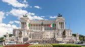 Рим : Rome city at Piazza Venezia timelapse, Rome, Italy 4K Time lapse