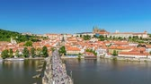 most : Prague city skyline Charles Bridge and Prague Castle timelapse, Prague, Czech Republic 4K Time lapse