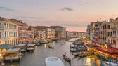 Venice Italy time lapse 4K, city skyline day to night sunset timelapse at Venice Grand Canal