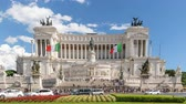 Рим : Rome Italy time lapse 4K, city skyline timelapse at Piazza Venezia