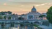vaticano : Rome Vatican Italy time lapse 4K, city skyline day to night sunset timelapse at Saint Peter Basilica