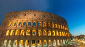 kolosszeum : Rome Italy time lapse 4K, day to night sunset timelapse at Rome Colosseum Stock mozgókép