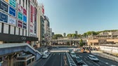 Tokyo Japan time lapse 4K, timelapse of tourist walking at Ueno Station