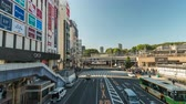 centro da cidade : Tokyo Japan time lapse 4K, timelapse of tourist walking at Ueno Station