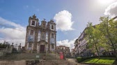 ildefonso : Porto Portugal time lapse 4K, city skyline timelapse at Church of Saint Ildefonso