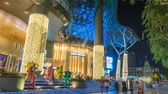 Singapore time lapse 4K, night timelapse at ION Orchard shopping mall