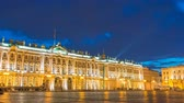 Saint Petersburg Russia time lapse 4K, city skyline night timelapse at Palace Square