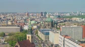 Berlin Germany time lapse 4K, high angle view city skyline timelapse at Berlin Cathedral (Berliner Dom)