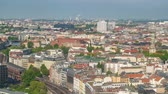 スカイライン : Berlin Germany time lapse 4K, high angle view city skyline timelapse